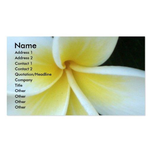 Frangipani flower Business Card