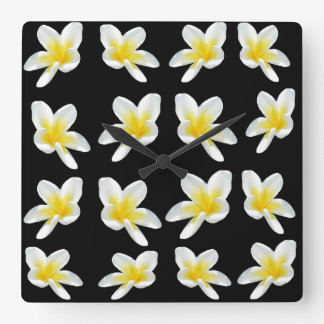 Frangipani Flower Sensation, Lge Square Wall Clock