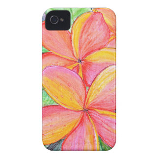 Frangipani Flowers iPhone 4 Case-Mate Cases