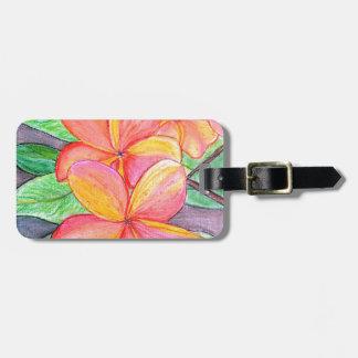Frangipani Flowers Luggage Tag