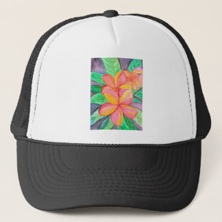 Frangipani Flowers Trucker Hat