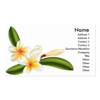 frangipani or plumeria flower business cards