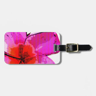Frangipani Pop Art Bag Tag