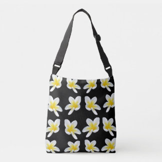 Frangipani Sensation, Full Print Cross Body Bag