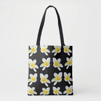 Frangipani Sensation, Full Print Shopping Bag