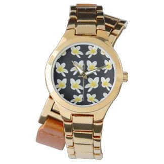 Frangipani Sensation, Ladies Gold Wrap Watch. Watch