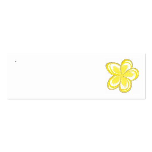 Frangipani Wedding Favor Tags Business Cards