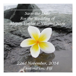 Frangipani Wedding Save the Date announcements