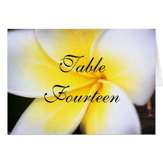 Frangipani - Wedding Table Number Cards
