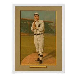 Frank Baker Athletics Baseball 1911 Poster