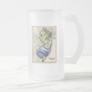 Frank From Hoboken Frosted Glass Beer Mug