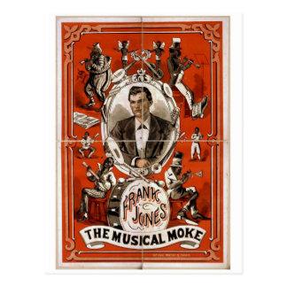 Frank Jones, 'The Musical Moke' Retro Theater Postcard