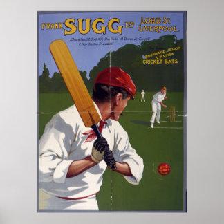 Frank Sugg cricket bats 1906 Posters
