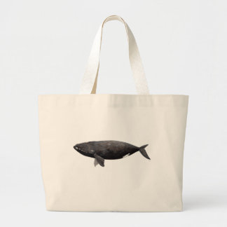 Frank whale of Atlantic Large Tote Bag
