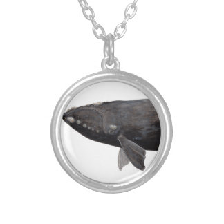 Frank whale of Atlantic Silver Plated Necklace