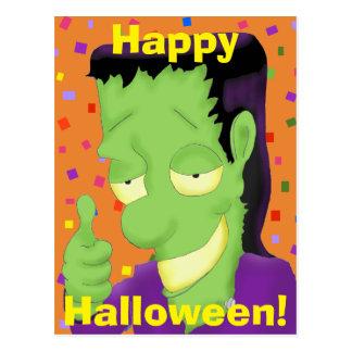 Frankencool Halloween Postcard