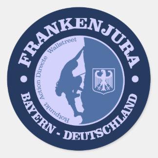 Frankenjura (rock climbing) round sticker