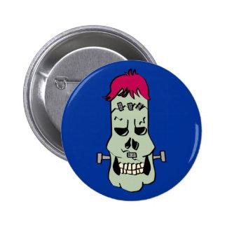 Frankenskull Button