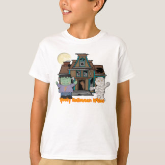 Frankenstein and Mummy Halloween T-Shirt