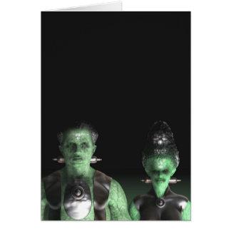 Frankenstein & Bride - Halloween Greeting Card