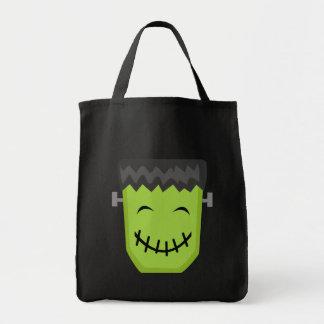Frankenstein Halloween Grocery Tote Bag