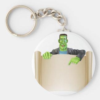 Frankenstein Halloween Sign Scroll Key Ring