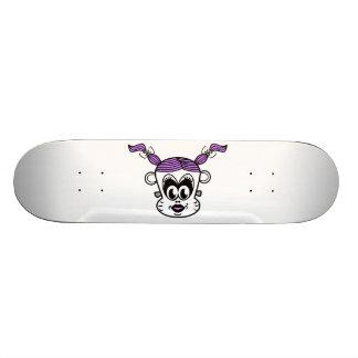 Frankenstein monkey girl with purple hair skate deck