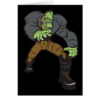 Frankenstein Monster Halloween Greeting Card