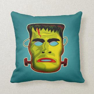 Frankenstein Monster Mask Throw Pillow