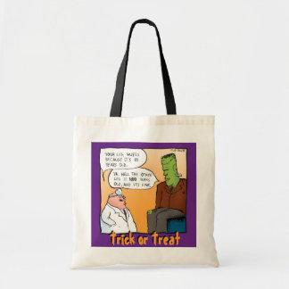 Frankenstein Monster Trick or Treat Halloween Bag Budget Tote Bag