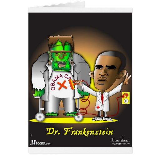 Frankenstein Obama Care Greeting Card