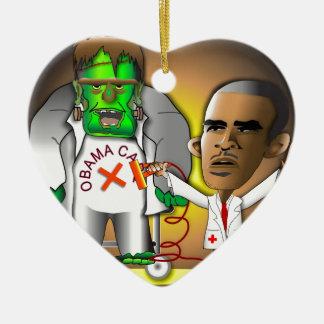 Frankenstein Obama Care Ornaments