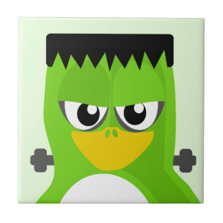 Frankenstein Penguin Small Square Tile