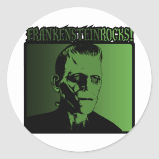 Frankenstein Rock! Classic Round Sticker