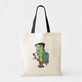 Frankenstein Trick-or-Treat Bag Tote Bags