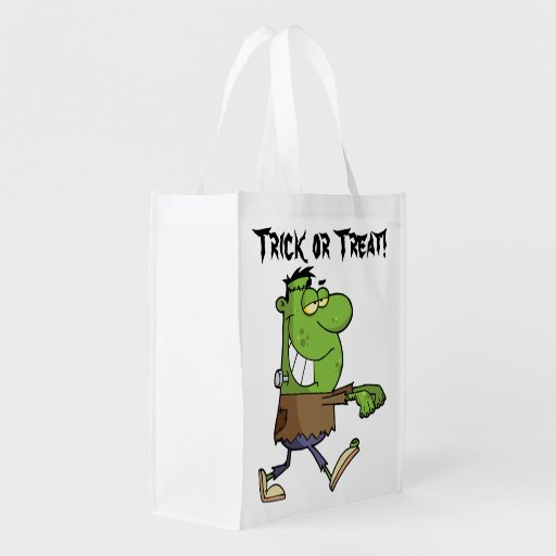 Frankenstein Trick or Treat Reusable Grocery Bags