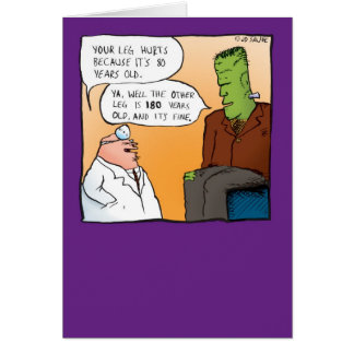 Frankensteins Doctor Get Well Soon Card