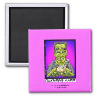 Frankenstein's Hamster Funny Cartoon Magnet Refrigerator Magnet