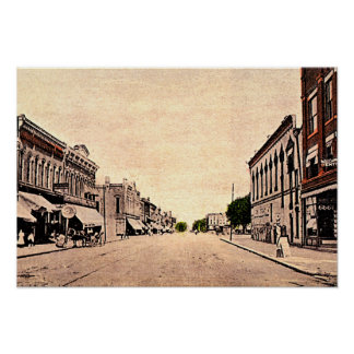 Frankfort, Indiana Main Street 1910 Posters