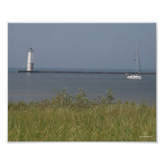 Frankfort Lighthouse - Michigan Poster