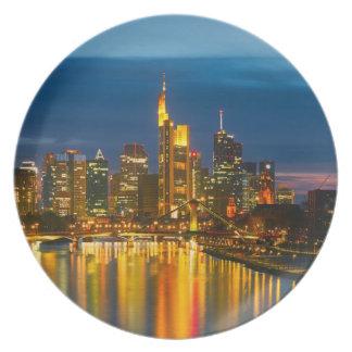 Frankfurt A Main as melamine plates