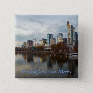 Frankfurt am Main skyline 15 Cm Square Badge