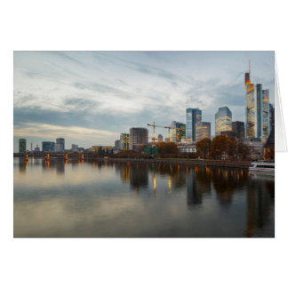 Frankfurt am Main skyline Card