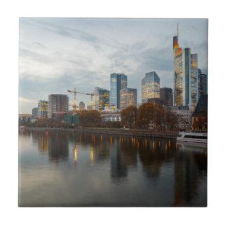 Frankfurt am Main skyline Small Square Tile