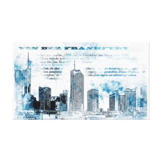 Frankfurt, architecture - Popart illustration Canvas Print