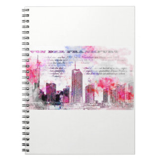 Frankfurt, architecture - Popart illustration Notebooks
