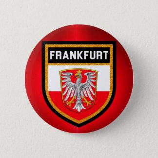 Frankfurt  Flag 6 Cm Round Badge