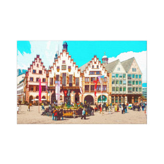 Frankfurt, Germany Romans, Market Place Canvas Print