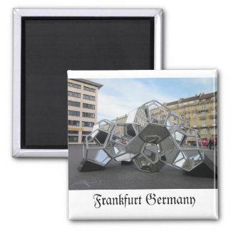 Frankfurt Germany Sculpture Square Magnet