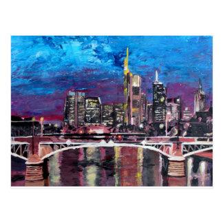 Frankfurt Main Germany - Mainhattan Skyline Postcard